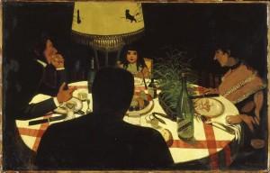 Le dîner, effet de lampe (Félix Vallotton, 1899).