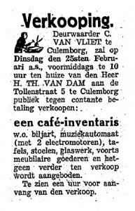 Culemborgsche Courant, 15 februari 1941.