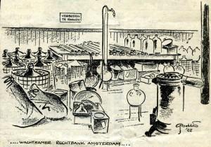 Illustratie van Gerrit Dekker uit De Telegraaf van 7 januari 1953.