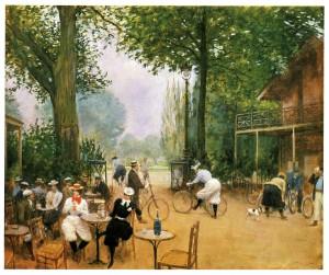 Le chalet du cycle au Bois de Boulogne (Jean Béraud, 1899)