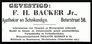 Advertentie Schiedamsche Courant, 15 januari 1912.