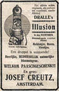 Advertentie uit 1910 voor Dralle's Illusion.