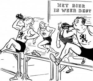 Cartoon uit het tijdschrift Burgerrecht, 4 juni 1960.