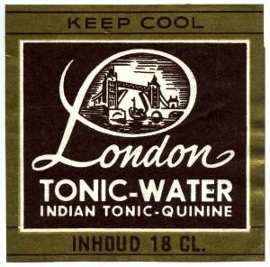 Etiket London tonic-water 1961