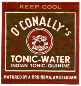 etiket O'Conally's tonic-water 1957