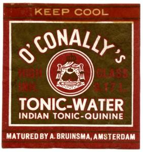 etiket O'Conally's tonic-water 1957