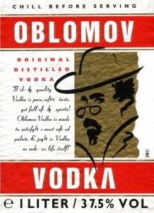 etiket Oblomov vodka 2005