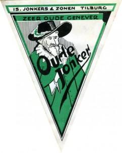 Etiket Oude Jonker jenever, 1932.