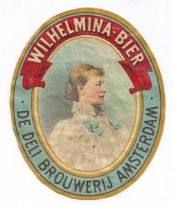 etiket Wilhelmina-Bier (1897)