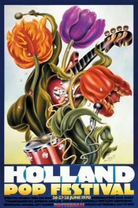 Poster van het popfestival ontworpen door Alan Aldridge.