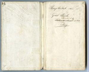 Receptenboek Gerard van der Waals, circa 1920.