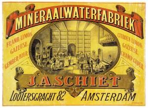 reclameplaat circa 1890