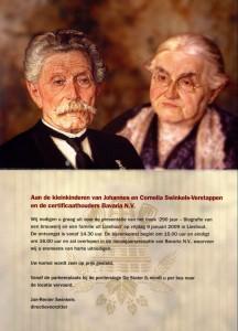 uitnodiging boekpresentatie (09-01-2009) voor familie