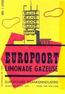 etiket Europoort limonadegazeuse firma A.A. Zonnevijlle & Co. circa 1960