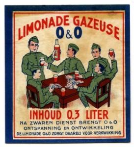 etiket O & O limonadegazeuse circa 1939