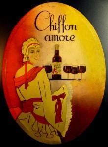 reclamebordje Chiffon Amore 1938 (coll. H.J. Hooghoudt, Haren)