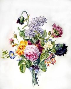 Christina Enschedé, Boeket met verschillende bloemen, circa 1850 (Teylers Museum)