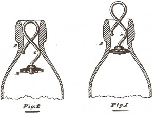 Hutchinson flessensluiting patent (8 april 1879)
