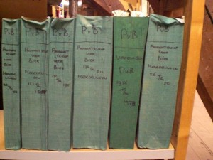 aangetroffen archivalia PB