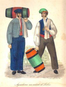 Aguadeiros na cidade de Lisboa