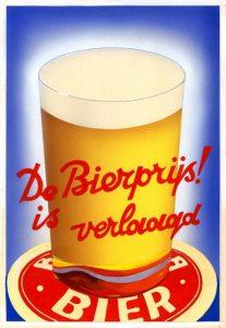 omslagontwerp voor folder De bierprijs is verlaagd (1935)