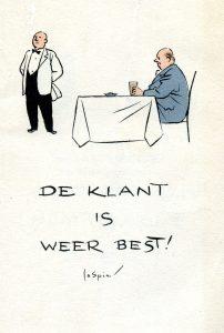 De klant is weer best (omslag) 1950