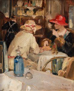 Restaurant scène (Greta Gerell) 1929