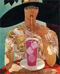 Vrouw met glas limonade (Harriet Meserole) 1926