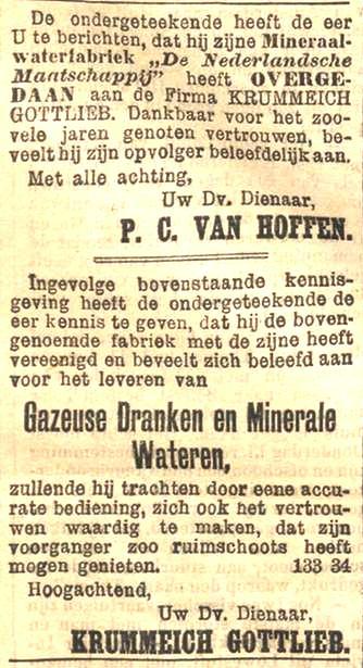 advertentie Rotterdamsch Nieuwsblad, 3 januari 1896