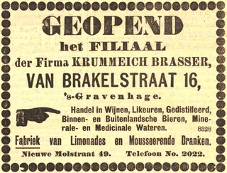 advertentie Haagsche Courant, 19 oktober 1903