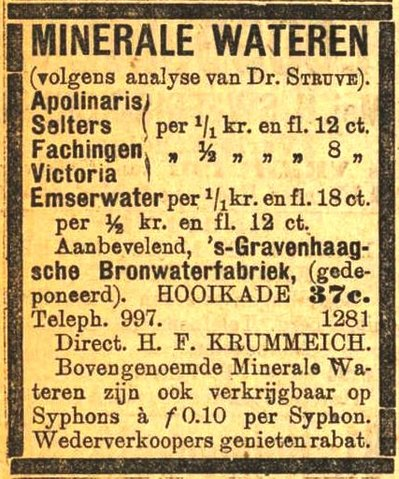 advertentie Haagsche Courant, 24 april 1911